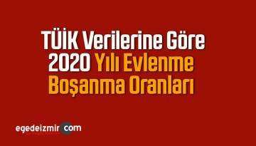 Türkiye İstatistik Kurumu 2020 Yılı Evlenme Boşanma Oranları Açıkladı