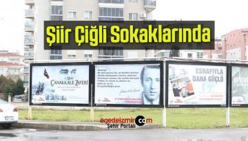 Çiğli Sokaklarında 21 Mart Şiir Gününe Özel Billboardlar