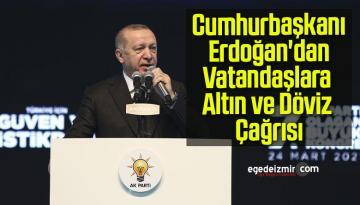 Cumhurbaşkanı Erdoğan'dan Vatandaşlara Altın ve Döviz Çağrısı