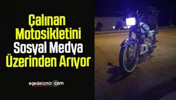 Çalınan Motosikletini Sosyal Medya Üzerinden Arıyor