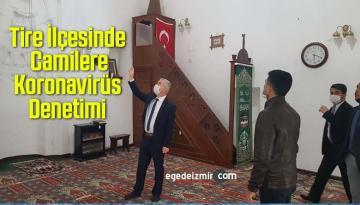 İzmir'in Tire İlçesinde Camilere Koronavirüs Denetimi