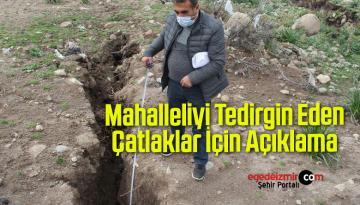 İzmir'de Mahalleliyi Tedirgin Eden Çatlaklar İçin Açıklama Geldi