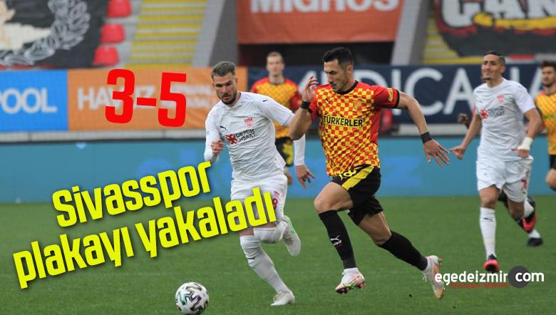 Süper Lig : Göztepe: 3 – D.G. Sivasspor: 5