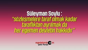 Süleyman Soylu İstanbul Sözleşmesi'nin İptali Hakkında Açıklama Yaptı