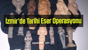 İzmir'de Jandarma Tarihi Eser Operasyonu Düzenledi