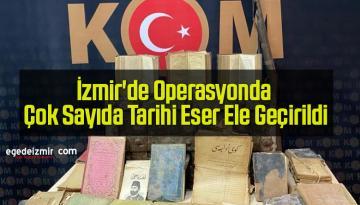 İzmir'de Operasyonda Çok Sayıda Tarihi Eser Ele Geçirildi