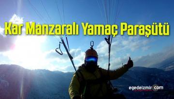 Kar Manzarasında Yamaç Paraşütü Keyfi
