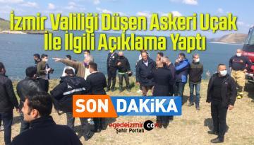 İzmir Valiliği Düşen Askeri Uçak İle İlgili Açıklama Yaptı