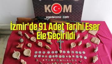 İzmir'de Operasyonda 91 Adet Tarihi Eser Ele Geçirildi