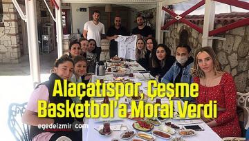 Alaçatıspor, Çeşme Basketbol'a Moral Verdi
