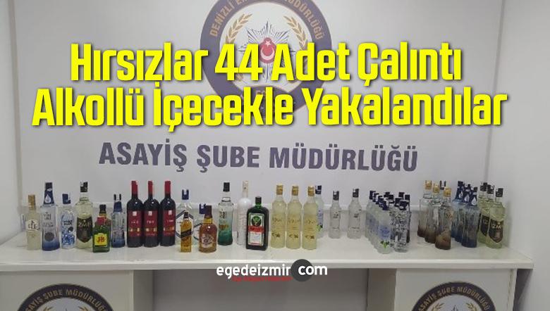 Hırsızlar 44 Adet Çalıntı Alkollü İçecekle Yakalandılar