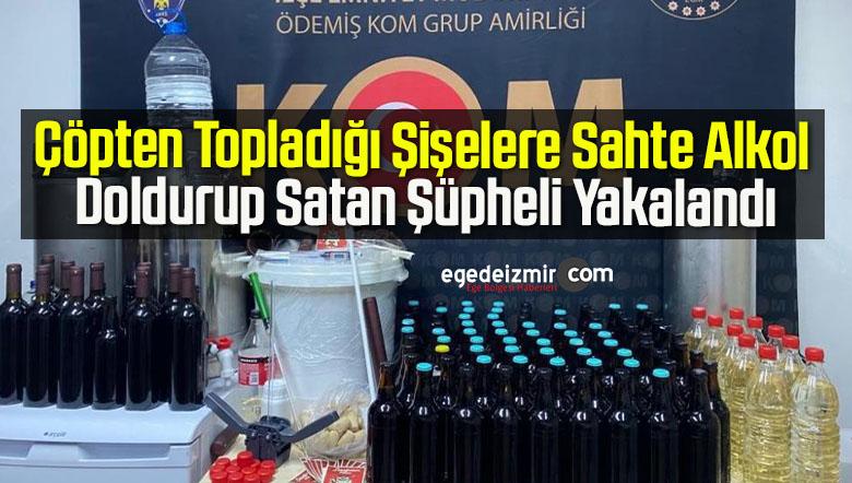 Çöpten Topladığı Şişelere Sahte Alkol Doldurup Satan Şüpheli Yakalandı