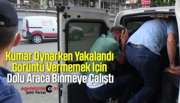 Kumar Oynarken Yakalandı, Görüntü Vermemek İçin Dolu Araca Binmeye Çalıştı