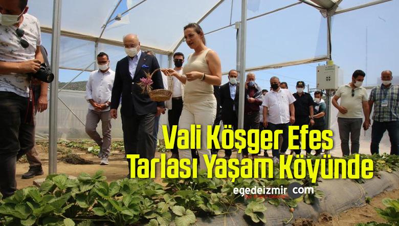Vali Köşger Efes Tarlası Yaşam Köyünde
