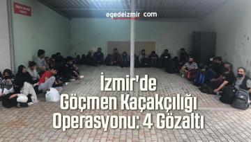 İzmir'de Göçmen Kaçakçılığı Operasyonu: 4 Gözaltı