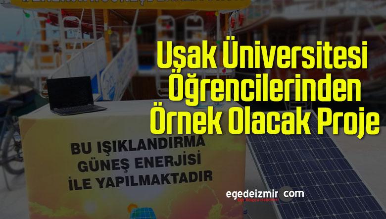 Uşak Üniversitesi Öğrencilerinden Örnek Olacak Proje