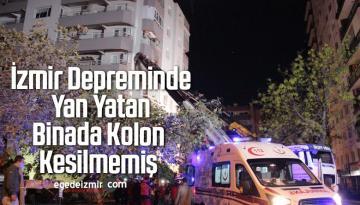 İzmir Depreminde Yan Yatan Binada Kolon Kesilmemiş