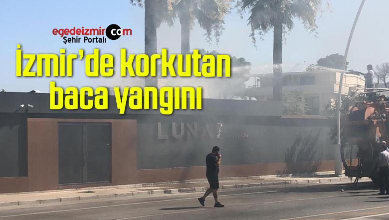 İzmir'de korkutan baca yangını