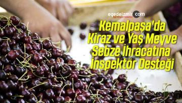 Kemalpaşa'da Kiraz ve Yaş Meyve Sebze İhracatına İnspektör Desteği