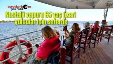 Nostalji vapuru 65 yaş üzeri yolcular için seferde