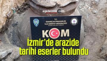İzmir'de arazide tarihi eserler bulundu