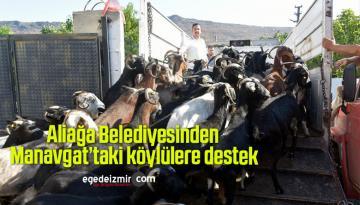 Aliağa Belediyesinden Manavgat'taki köylülere destek