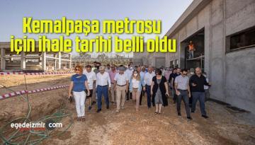 Kemalpaşa metrosu için ihale tarihi belli oldu