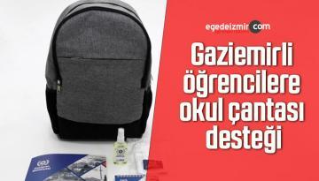 Gaziemirli öğrencilere okul çantası desteği
