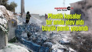 Plastik kasalar bir anda alev aldı büyük panik yaşandı