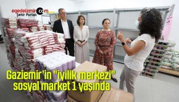 """Gaziemir'in """"iyilik merkezi"""" sosyal market 1 yaşında"""