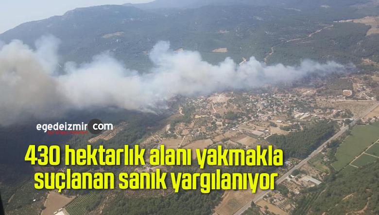 430 hektarlık alanı yakmakla suçlanan sanık yargılanıyor