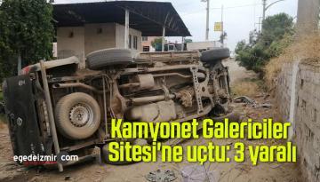Kamyonet Galericiler Sitesi'ne uçtu: 3 yaralı