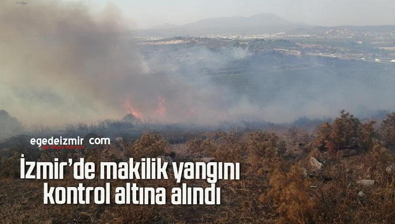 İzmir'de makilik yangını kontrol altına alındı