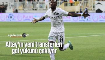 Altay'ın yeni transferleri gol yükünü çekiyor